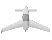 Wing span is 29.0 feet with canted winglets